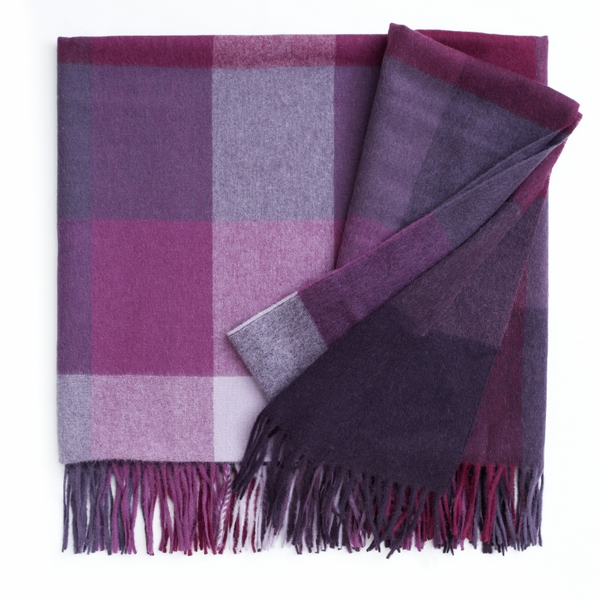 Inca Stones Orchid Lilac Alpaca Blend Throw
