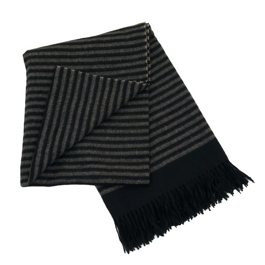 Underscore Black Alpaca Blend Throw - Northlight Homestore