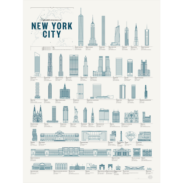 "Splendid Structures of New York City Art Prints 18"" x 24"""