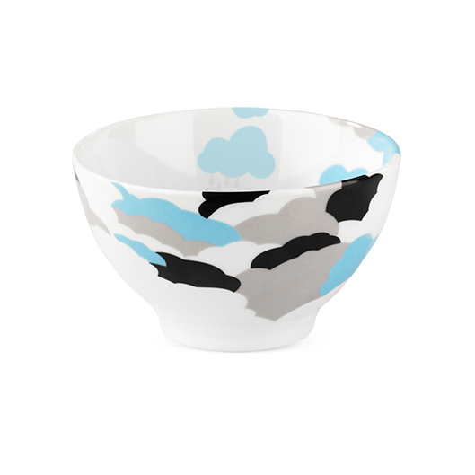 Come Rain Come Reign Blue Cereal Bowl - Northlight Homestore