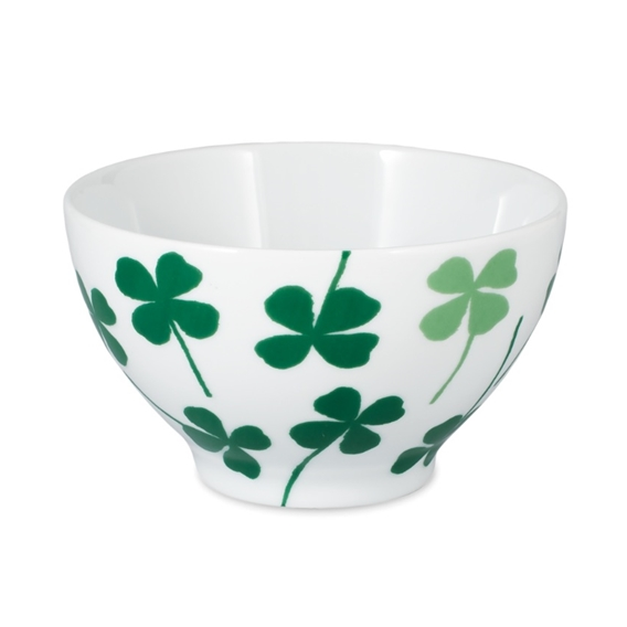 Lucky Clover Green Cereal Bowl - Northlight Homestore