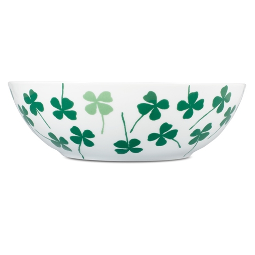 Lucky Clover Green Salad Bowl - Northlight Homestore