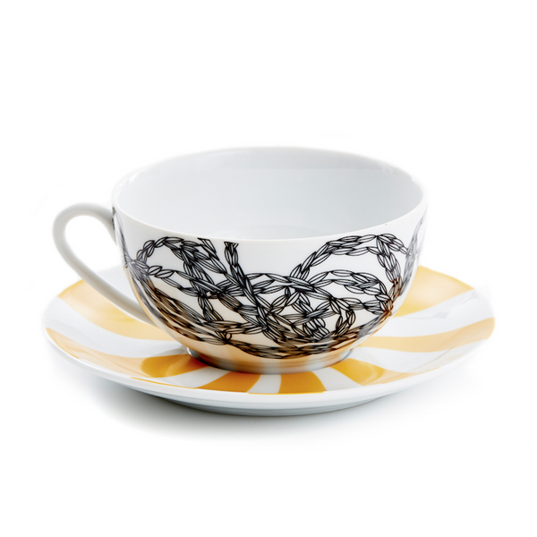 Afternoon Delight Hypnotique Wheat Tea Cup/Saucer