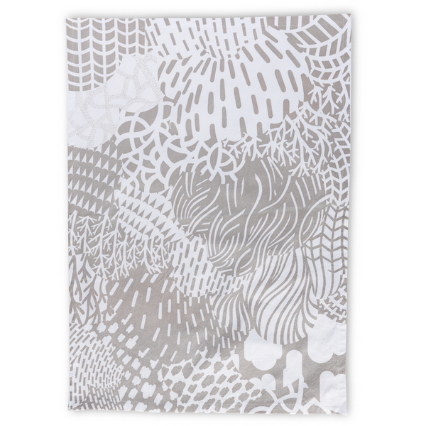 Funky Forest/Grey Tea Towel