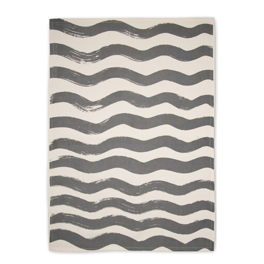 Ride The Wave Grey Tea Towel