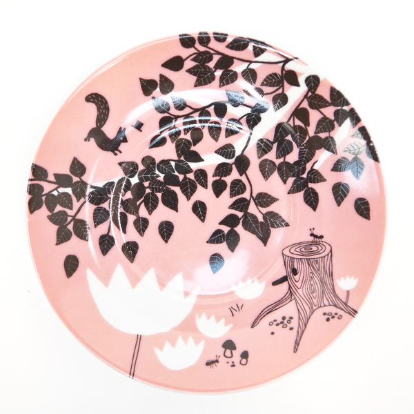 Hats off for Mr Squirrel Cake Plate