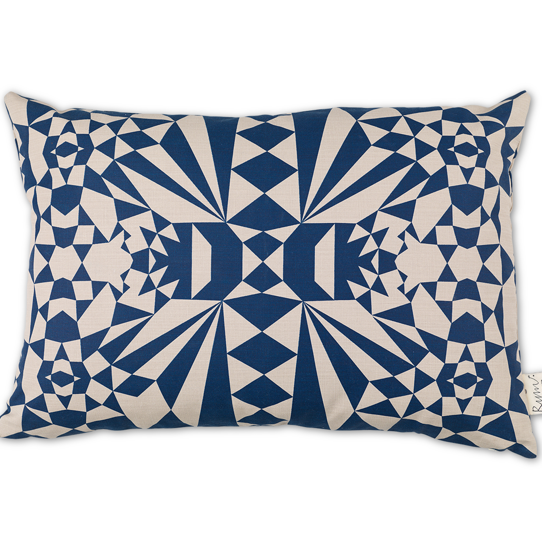 Merry Mosaics/Blue Cushion Cover