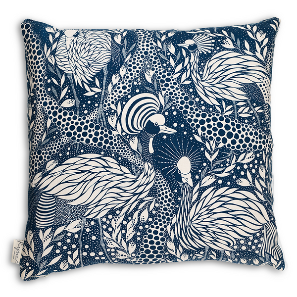 Prancing Peacock/Blue Cushion Cover - Northlight Homestore
