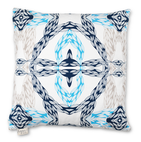 Wavy Wheat Blue Cushion Cover - Northlight Homestore