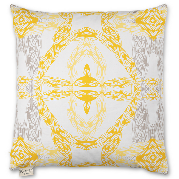 Wavy Wheat Yellow Cushion Cover - Northlight Homestore