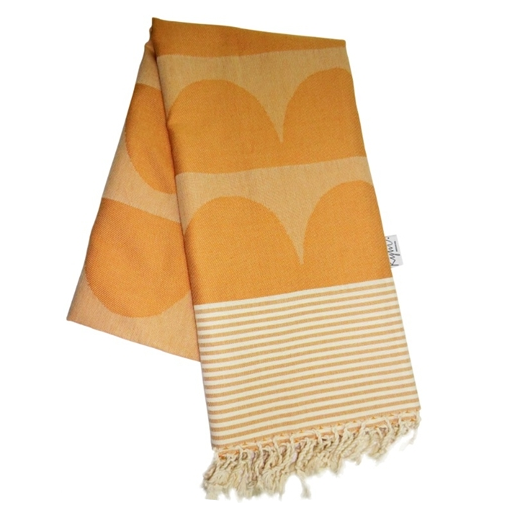 Tu Es La Vague Orange Go Undercover Blanket - Northlight Homestore