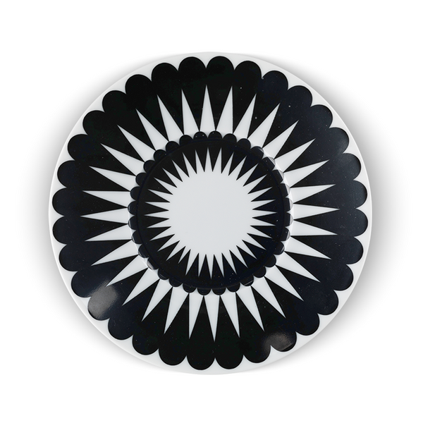 Pretty Petal Black Saucer - Northlight Homestore