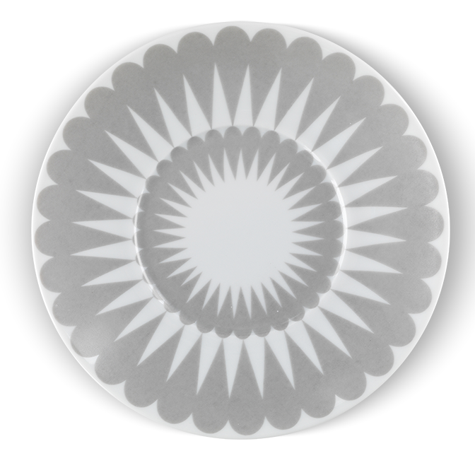 Pretty Petal Grey Saucer - Northlight Homestore