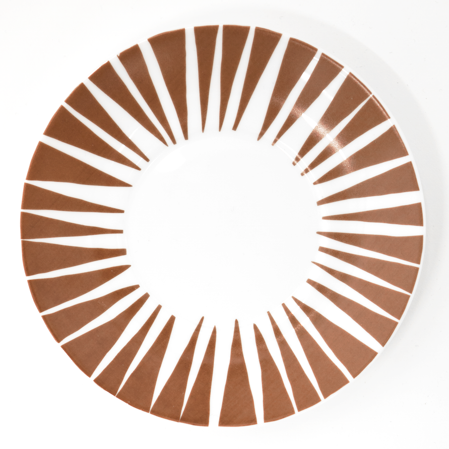 Stripes Never Wear Out Brown Saucer - Northlight Homestore