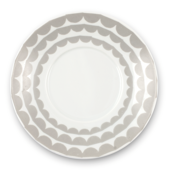 Tu Es La Vague Grey Saucer - Northlight Homestore