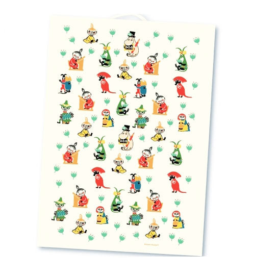 Moomin 50's Pattern Tea Towel