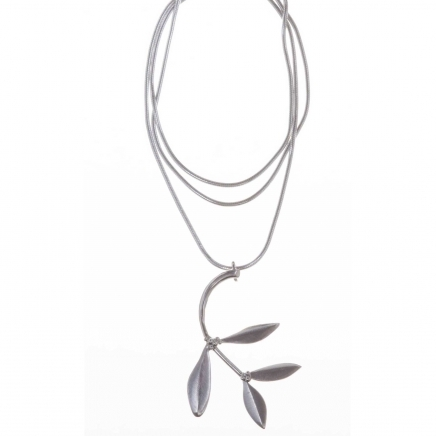 Sterling Silver Olive Pendant With Chain - Northlight Homestore