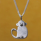 Silver Monkey Pendant With Chain - Northlight Homestore