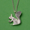 Silver Squirrel Pendant With Chain - Northlight Homestore