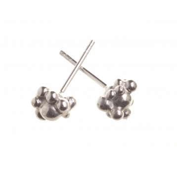 Silver Pericarp Stud Earrings