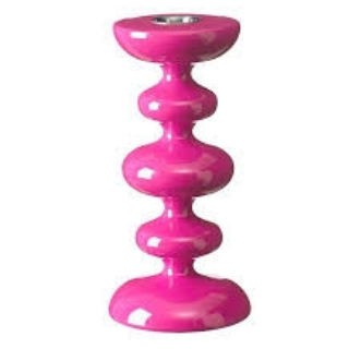 Curve Neon Pink 19cm Candlestick - Northlight Homestore
