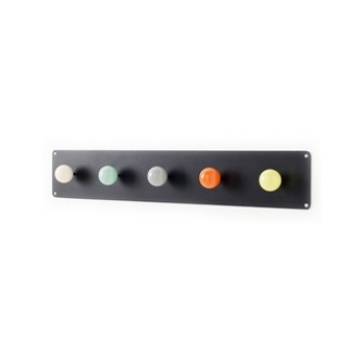 Tea Towel Hook Black/Multi - Northlight Homestore