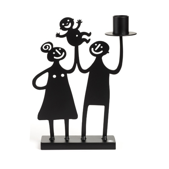 Family Black Big Candle Holder