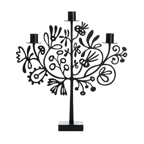 Lace Black Candle Holder