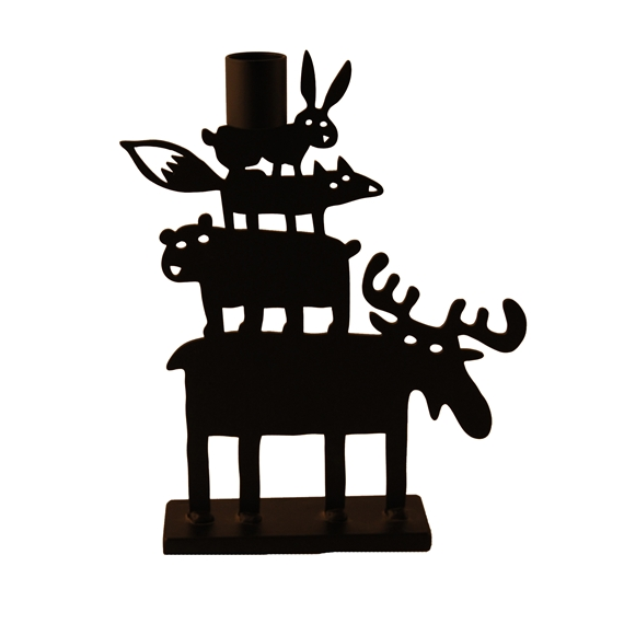 Moose Pyramid Candle Holder