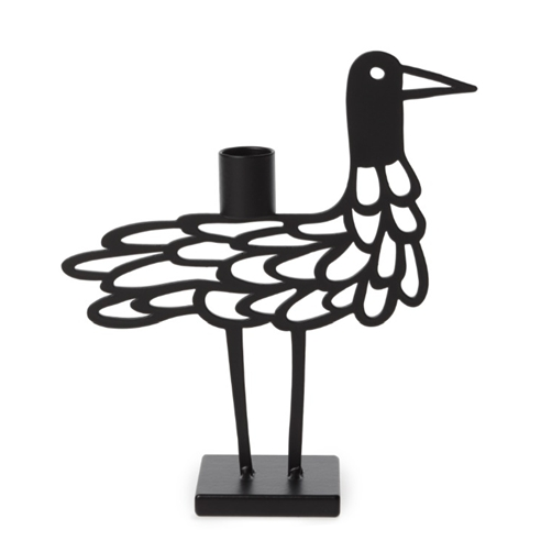 Shorebird Light Black Big Candle Holder