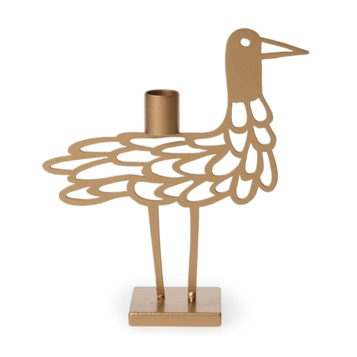 Shorebird Light Metallic Big Candle Holder