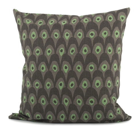 Circus Birds Green Cushion 65 x 65cm - Northlight Homestore