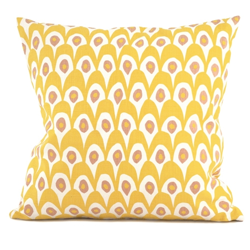 Circus Birds Yellow Cushion 65 x 65cm - Northlight Homestore