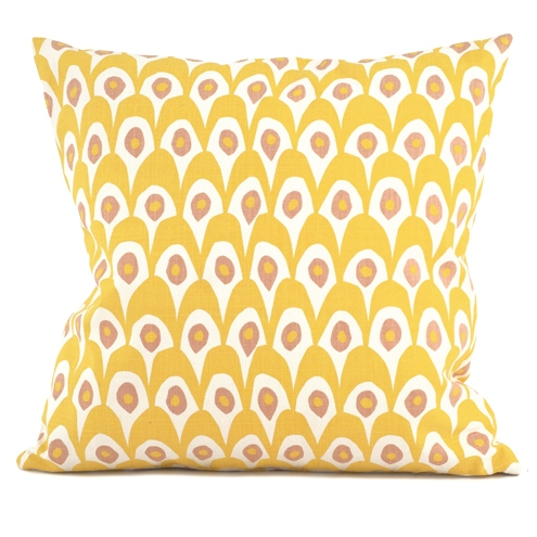 Circus Birds Yellow Cushion 50 x 50cm