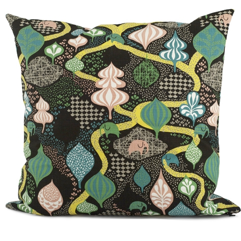 Saga Forest Black/Multi Cushion 65 x 65cm - Northlight Homestore