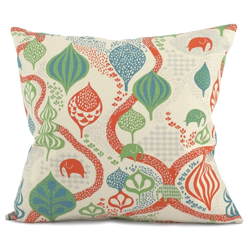 Saga Forest Red/White Cushion 50 x 50cm