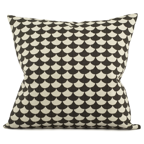 Waves Black Cushion 65 x 65cm - Northlight Homestore
