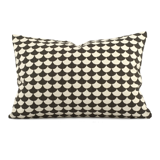 Waves Black Cushion 60 x 40cm - Northlight Homestore