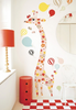 Flowers Giraffe Measuring Wall Sticker - Northlight Homestore
