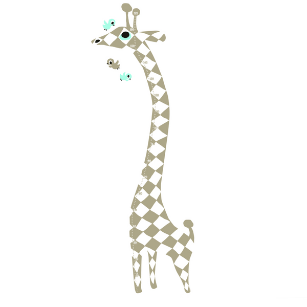 Harlekin Giraffe Measuring Wall Sticker - Northlight Homestore
