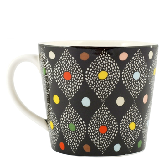 Carnival Black Mug - Northlight Homestore