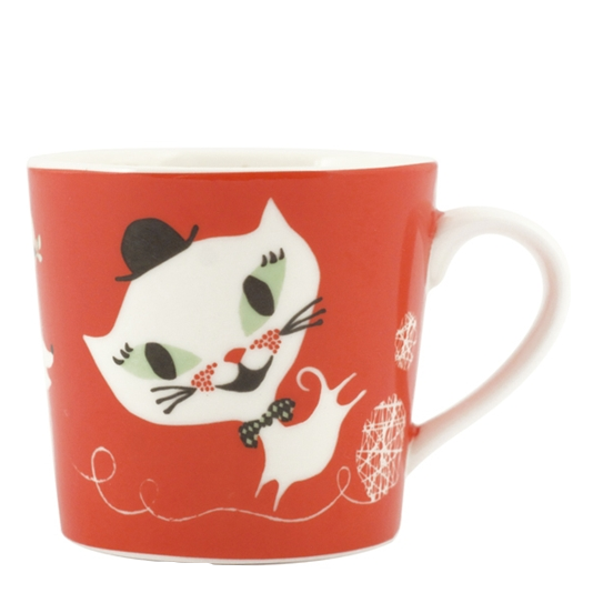 Catfun Porcelain Red Mug