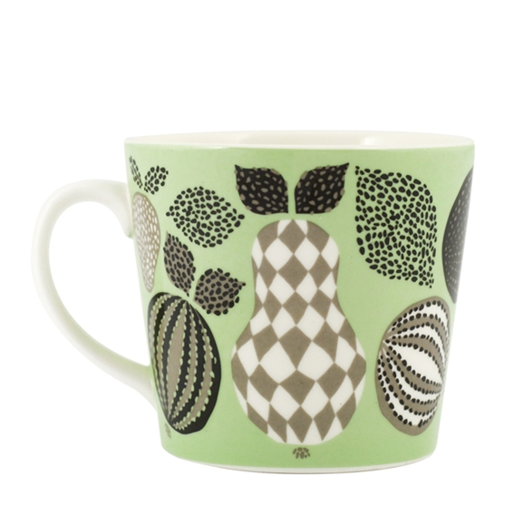 Fruit Green Porcelain Mug