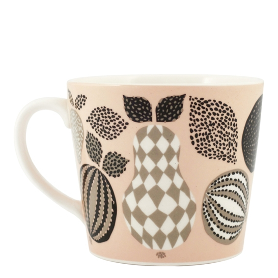 Fruit Pink Porcelain Mug - Northlight Homestore