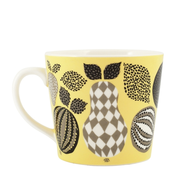 Fruit Yellow Porcelain Mug - Northlight Homestore