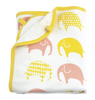 White/Yellow/Pink Blanket and Comforter Set