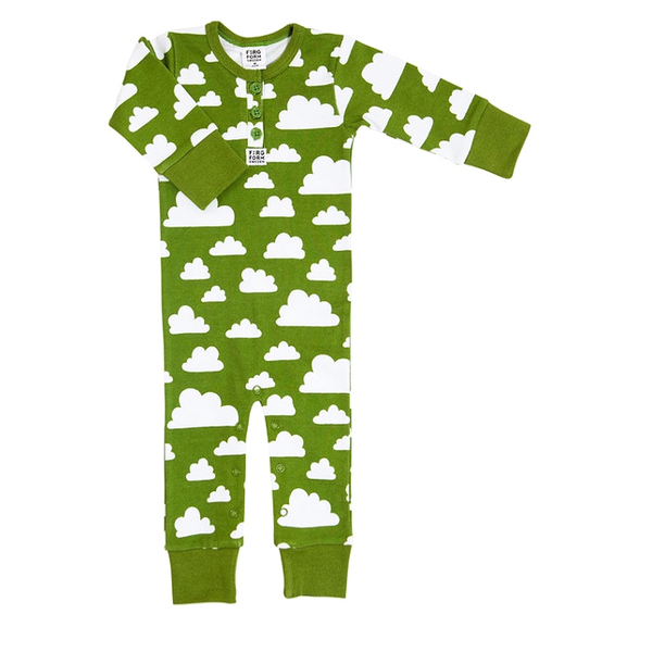 Moln Cloud Green Bodysuit (No Buttons) - Various sizes
