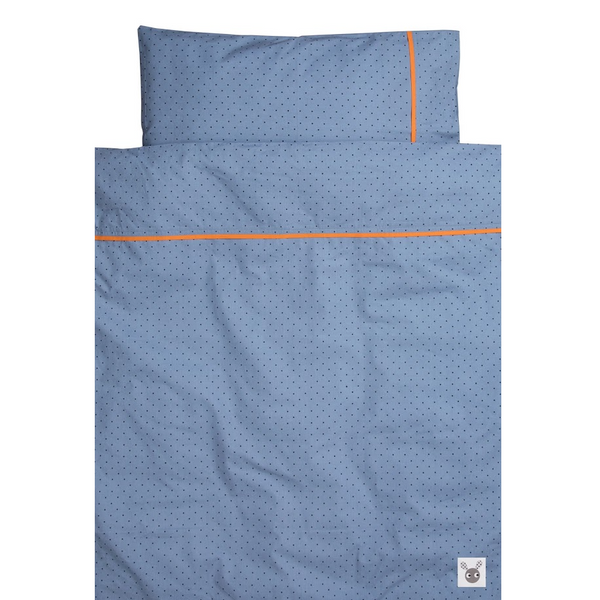 Skummis Blue/Orange Cradle/Pram Bedset