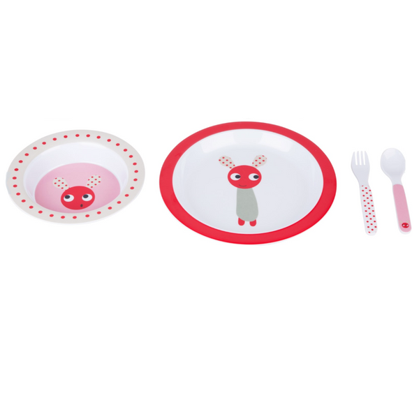 Skummis Pink/Red Dinnerware