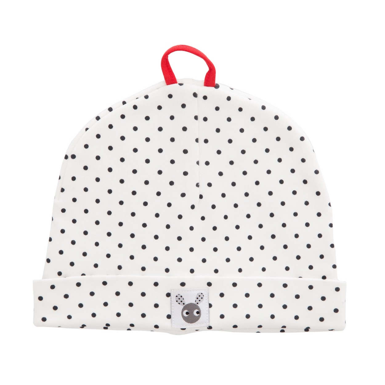 Skummis White Beanie with Grey Polkadots - Northlight Homestore